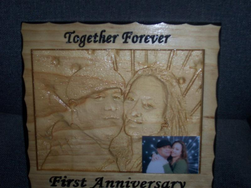 Fred & Erlene Photo in Wood   Click on to enlarge